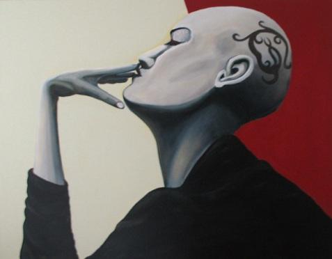 Herwig Maria Stark, Salamander, 146 x 114 cm, Acryl on Belgian canvas, 2007