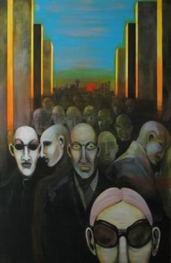 Herwig Maria Stark, shadows, 105 x 160 cm, Acryl on Belgian canvas, 2007