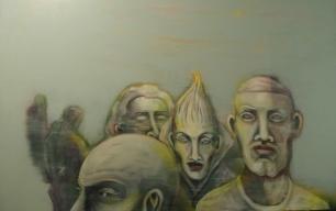 Herwig Maria Stark, strange atmosphere, 179 x 114 cm, Acryl on Belgian canvas, 2008