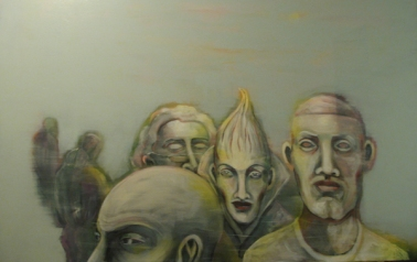 Herwig Maria Stark, strange atmosphere, 179 x 114 cm, Acryl on Belgian canvas, 2008