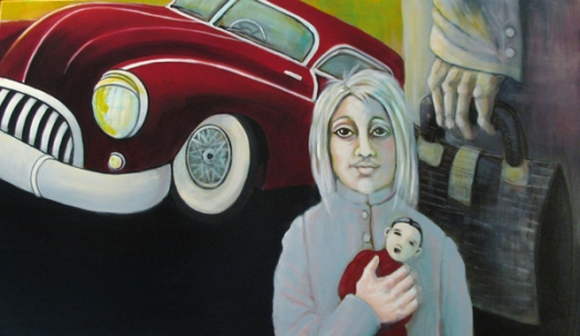 Herwig Maria Stark, the doll, 140 x 80 cm, Acryl on Belgian canvas, 2008