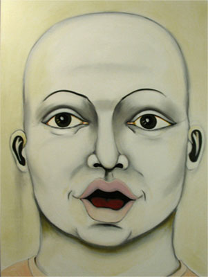 Herwig Maria Stark, Omega-Alpha no 5, mixed media (charcoal, ink, acrylic, oil) on canvas, 2009