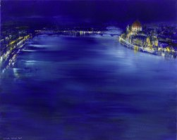 Gerlinde Kosina, Budapest, 80 x 100 cm Öl auf Leinwand, 2008
