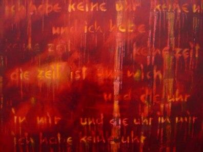 Gerlinde Kosina, Zeit, 80 x 100 cm , Öl auf Leinwand, 2002