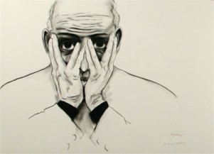 Herwig Maria Stark, Moments no 30, 100 x 70 cm, mixed media (charcoal, ink) on paper, 2009