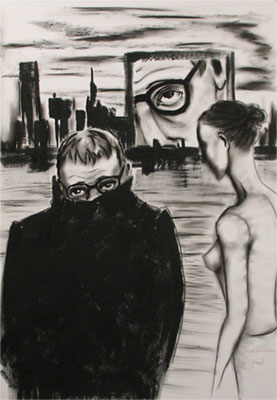 Herwig Maria Stark, Moments no. 39, 70 x 100 cm, mixed media (charcoal, acrylic, ink, graphite) on paper, 2009