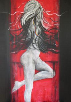 Regina Merta, WILDES HAAR, 100 x 80 cm, Acryl auf Leinen, 2015