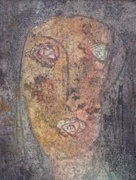 Hannes Neuhold, Kopf, 24 x 30 cm, Mischtechnik auf Leinwand