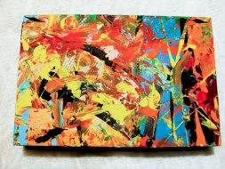 Herwig Maria Stark, ART CUBE 1/12, size 20 x 30 x 6 cm, Mixed media on wooden cube
