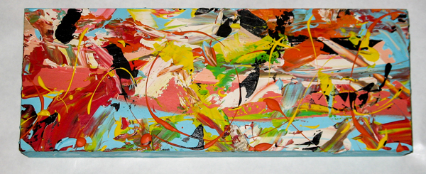Herwig Maria Stark, PIECE 11, 15 x 40 x 6 cm, Catalogue no. 2004_37, acrylic,