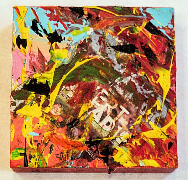 Herwig Maria Stark, PIECE 7, 20 x 20 x 6 cm, Catalogue no. 2004_33, mixed media