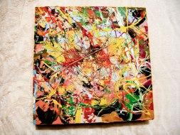Herwig Maria Stark, ART CUBE 2/6, size 30 x 30 x 6 cm, Mixed media on wooden cube