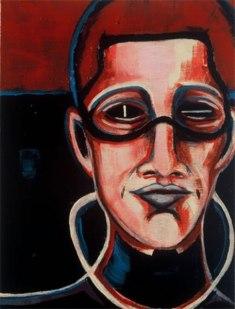 Herwig Maria Stark, EUROPA, Serie Introspection, Acryl auf Leinen, 40 x 30 x 4,5 cm, 2003_45