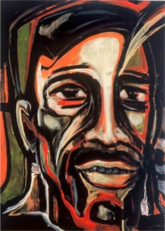 Herwig Maria Stark, FACE, Serie Introspection, Acryl auf Leinen, 55 x 40 x 4,5 cm, 2003_46