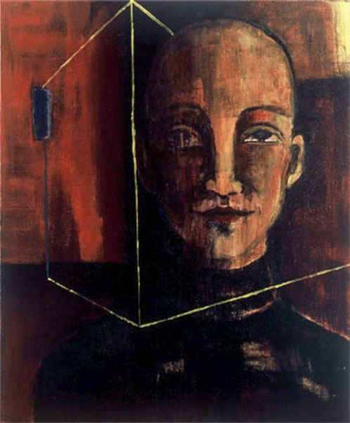 Herwig Maria Stark, THE CUBE, Serie Introspection, Acryl auf Leinen, 50 x 40 x 6 cm, 2003_53