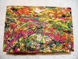 Herwig Maria Stark, ART CUBE 3/11, size 20 x 30 x 6 cm, Mixed media on wooden cube