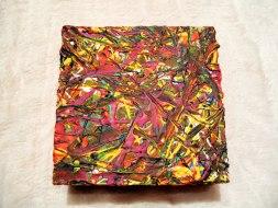 Herwig Maria Stark, ART CUBE 3/15, size 15 x 15 x 6 cm, Mixed media on wooden cube