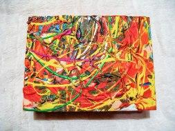 Herwig Maria Stark, ART CUBE 3/5, size 15 x 20 x 6 cm, Mixed media on wooden cube