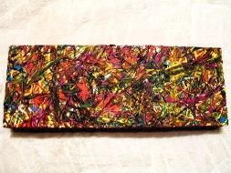 Herwig Maria Stark, ART CUBE 3/8, size 15 x 40 x 6 cm, Mixed media on wooden cube