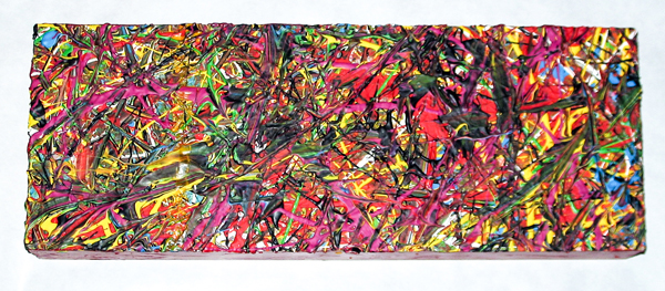 Herwig Maria Stark, PIECE 12, 15 x 40 x 6 cm, Catalogue no. 2004_38, acrylic,