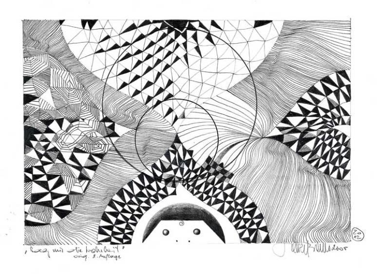 Herbert Bauer, Sag mir die Wahrheit, Orig. Grafitstiftzeichnung, 30 x 21cm, überarbeitet 2012