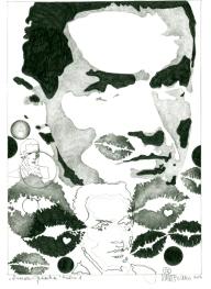 Herbert Bauer, FALCO no. 1, Orig. Graphitstiftzeichnung, 30 x 21 cm, 2014