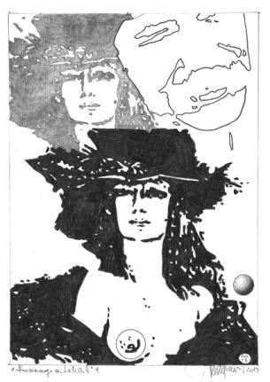Herbert Bauer, MAITRE LEHERB no 1, Graphitstift auf Papier, 29 x 21 cm