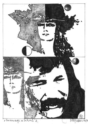 Herbert Bauer, MAITRE LEHERB no 2, Graphitstift auf Papier, 29 x 21 cm