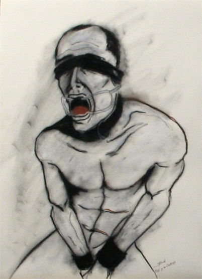 Herwig Maria Stark, Moments no. 20, 48,5 x 66 cm, mixed media (charcoal, graphite, chalk) on paper, 2009
