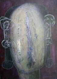 Hannes Neuhold, HÖREN, Triptychon, je 50 x 70 x 4 cm, Mischtechnik (Öl, Dispersion, Acryl, Farbstift, Tusche, Pigmente) auf Leinwand, aufgezogen auf Keilrahmen, 2010