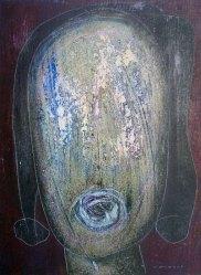 Hannes Neuhold, SPRECHEN, Triptychon, je 50 x 70 x 4 cm, Mischtechnik (Öl, Dispersion, Acryl, Farbstift, Tusche, Pigmente) auf Leinwand, aufgezogen auf Keilrahmen, 2010