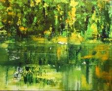 GERLINDE KOSINA, FEELING 13, Öl auf Leinwand, 180 x 100 cm, 2012