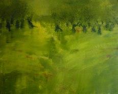 GERLINDE KOSINA, OLIVENBÄUME, Öl auf Leinwand, 80 x 100 cm, 2010