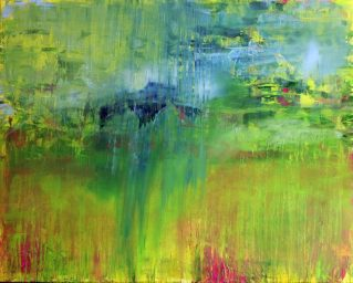 GERLINDE KOSINA, REGENBOGENTAGE, Öl auf Leinwand, 80 x 100 cm, 2014