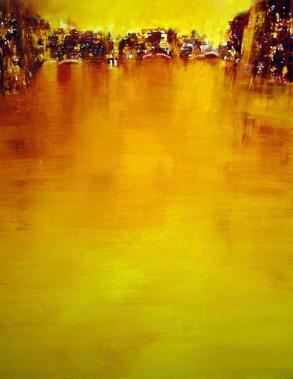 GERLINDE KOSINA, LAGUNA, Öl auf Leinwand, 100 x 80 cm