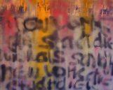 GERLINDE KOSINA, NEW YORK - DIE STADT DIE NIEMALS SCHLÄFT, Mischtechnik, Grafitti auf Leinwand, 80 x 100 cm, 2011