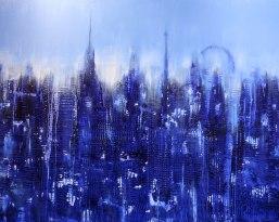 GERLINDE KOSINA, VIENNA BLUE, Öl auf Leinwand, 80 x 100 cm, 2012