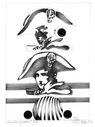 """Herbert Bauer, APRIL, Orig. Graphitstiftzeichnung, 30x21 cm, 2013, aus der Serie """"SURREALE GEDANKEN"""""""