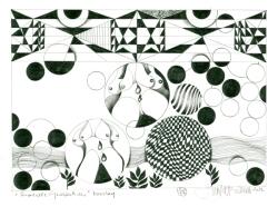 """Herbert Bauer, DIENSTAG, Orig. Graphitstiftzeichnung, 30x21 cm, 2013, aus der Serie """"SURREALE GEDANKEN"""""""