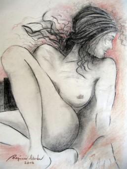 Regina Merta, LEBENSMOMENT, Kohle, Rötel auf Büttenpapier, 60 x 50 cm, 2013