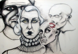 Herwig Maria Stark, THE SIN part 2, 70 x 100 x 4 cm, pigment print, mixed media, 2012_03