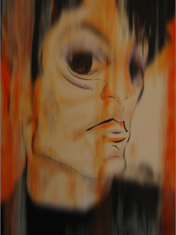 REGINA MERTA EGON SCHIELE 100 x 80 cm Acrylics on canvas, 2013