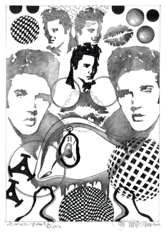 Herbert  Bauer, Elvis no. 4, 2013, graphit on paper