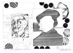 """Herbert Bauer, SAMSTAG, Orig. Graphitstiftzeichnung, 30x21 cm, 2014, aus der Serie """"SURREALE GEDANKEN"""""""