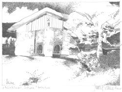 HERBERT BAUER, Röststadl, graphite on paper, 30 x 40 cm