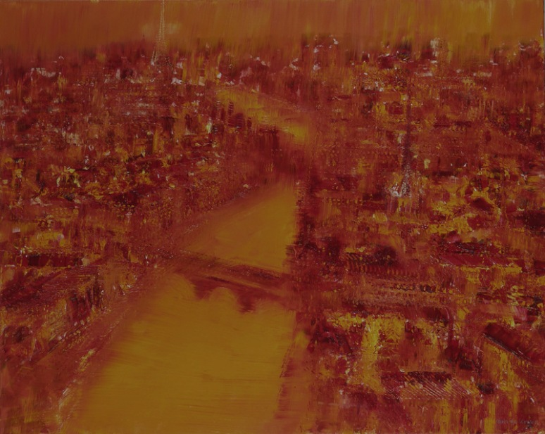 GERLINDE KOSINA, Paris, 80 x 100 cm, Oil on Canvas