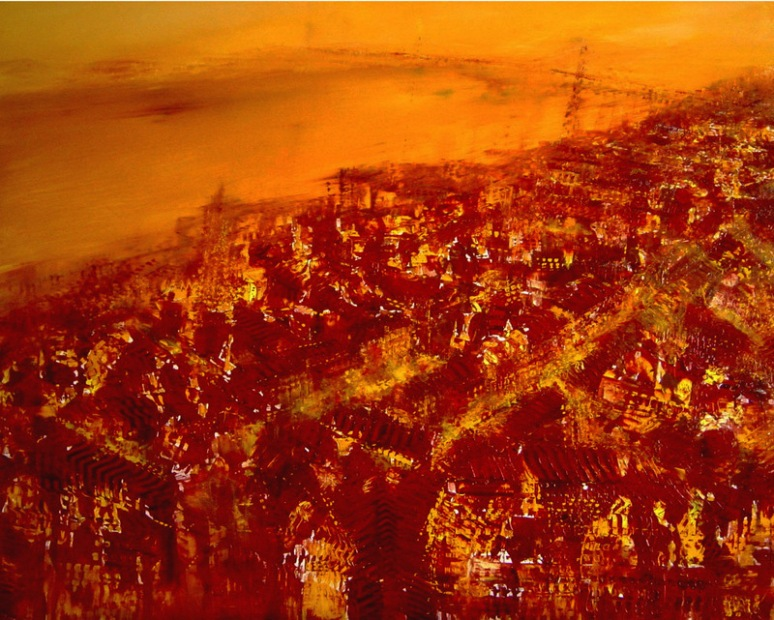 GERLINDE KOSINA, Lissabon, 80 x 100 cm, Oil on Canvas
