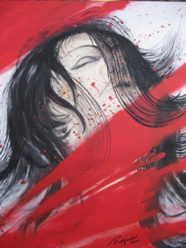 REGINA MERTA, So viel Gefühl, 100 x 80 cm, Acrylic on canvas, 2011