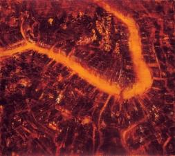 GERLINDE KOSINA, DAS HERZ VON SAN MARCO, Öl auf Leinwand, 100 x 100 cm, 2000
