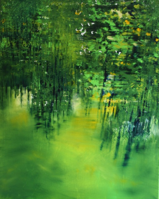 GERLINDE KOSINA, WALDHEIMAT, 100 x 80 cm, Oil on Canvas